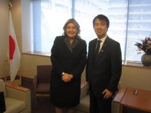 2013年10月17日 表敬 カルデナス在京コロンビア大使