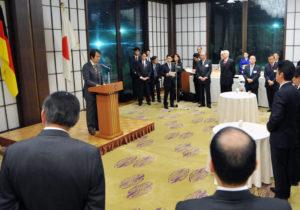 2013年10月29日 レセプション(日独フォーラム、於:飯倉別館、政務官は総理メッセージを代読されました)