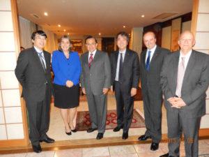 2013年11月6日 太平洋同盟加盟各国(コロンビア、チリ、メキシコ、ペルー)在京大使との夕食会