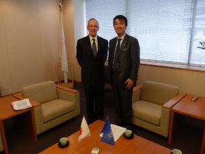 2013年11月11日 エドモント・ミュレ国連平和維持活動(PKO)担当事務次長補よりの表敬