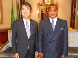 2013年11月26日 出張 サス・ンゲソ大統領への表敬(コンゴ共和国ブラザビル)