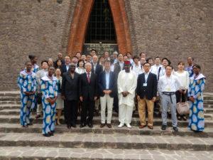 2013年11月28日 出張 ミッション一行集合写真(コンゴ共和国ブラザビル)