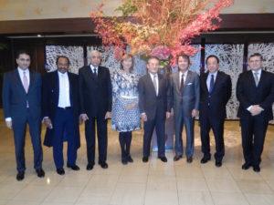 2013年12月9日 主催夕食会 IAEA常駐代表